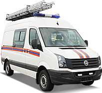 Аварийно-спасательные автомобили Volkswagen Crafter