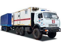 Аварийно-спасательные автомобили КАМАЗ с прицепом