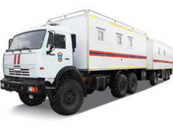 Командно штабная машина на базе КАМАЗ с прицепом